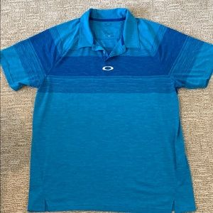 XL Oakley golf shirt/polo in blue, EXCELLENT!